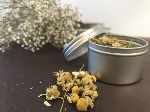 make your own herbal tea gift set camomile