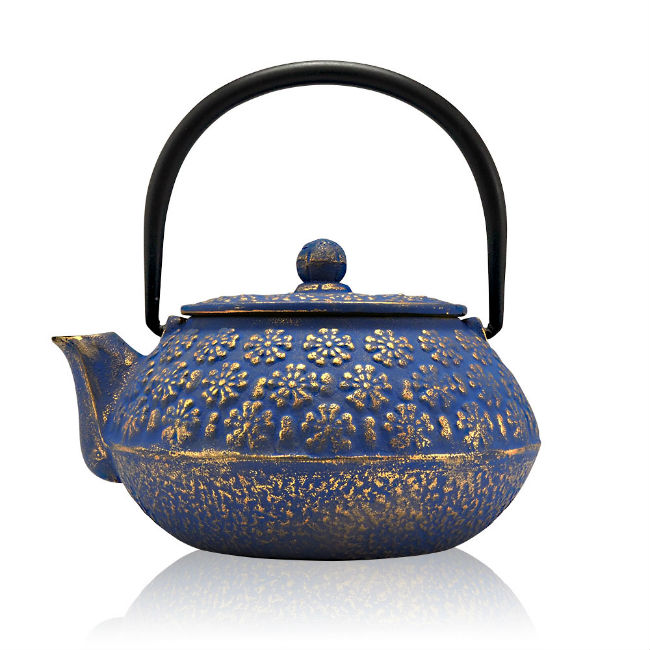 mizu blue cast iron gift for tea drinkers