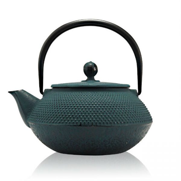 Tenshi Blue Cast Iron Teapot Gift Set
