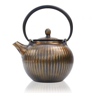 guzu cast iron copper teapot gift set