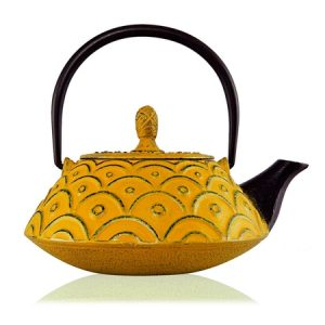kasumi orange cast iron teapot