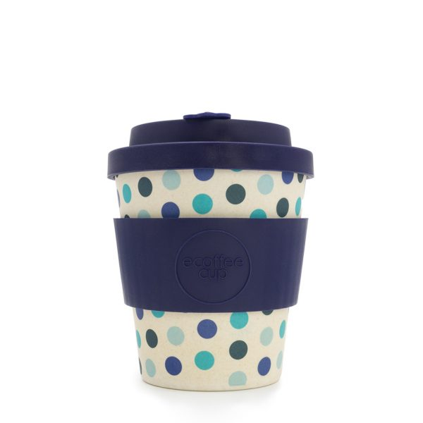 Blue Polka 8oz Bamboo Travel Mug