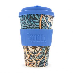 William Morris Lily 14oz Bamboo Travel Mug