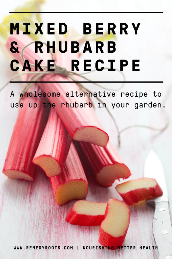 Mixed Berry and Rhubarb Cake Recipe